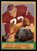 1963 Topps #164 Riley Mattson EX Excellent SP