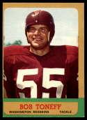 1963 Topps #165 Bob Toneff EX Excellent SP