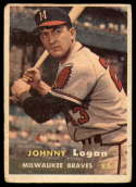 1957 Topps #4 Johnny Logan G Good