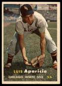 1957 Topps #7 Luis Aparicio UER EX++ Excellent++