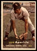 1957 Topps #7 Luis Aparicio UER NM Near Mint