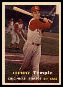 1957 Topps #9 Johnny Temple UER EX/NM