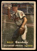 1957 Topps #17 Billy Gardner G Good