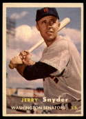 1957 Topps #22 Jerry Snyder UER EX/NM