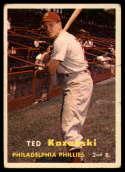1957 Topps #27 Ted Kazanski P Poor