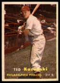 1957 Topps #27 Ted Kazanski VG/EX Very Good/Excellent