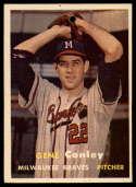 1957 Topps #28 Gene Conley hole