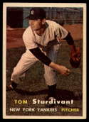 1957 Topps #34 Tom Sturdivant VG Very Good RC Rookie