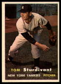 1957 Topps #34 Tom Sturdivant NM Near Mint RC Rookie