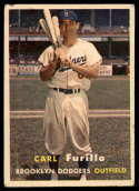 1957 Topps #45 Carl Furillo VG/EX Very Good/Excellent