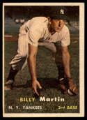1957 Topps #62 Billy Martin EX Excellent
