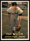 1957 Topps #77 Paul Foytack VG/EX Very Good/Excellent RC Rookie