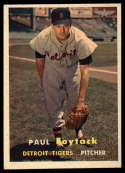 1957 Topps #77 Paul Foytack NM Near Mint RC Rookie
