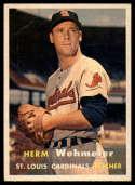 1957 Topps #81 Herm Wehmeier VG Very Good