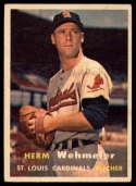 1957 Topps #81 Herm Wehmeier G Good mark