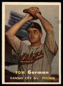 1957 Topps #87 Tom Gorman UER VG Very Good