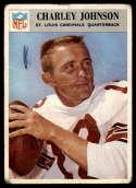 1966 Philadelphia #163 Charley Johnson P Poor