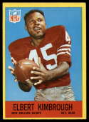 1967 Philadelphia #124 Elbert Kimbrough EX Excellent RC Rookie