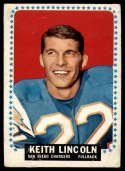1964 Topps #164 Keith Lincoln P Poor