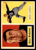 1957 Topps #121 Alex Webster EX Excellent