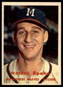 1957 Topps #90 Warren Spahn EX/NM