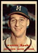 1957 Topps #90 Warren Spahn G/VG Good/Very Good