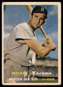 1957 Topps #92 Mickey Vernon VG/EX Very Good/Excellent