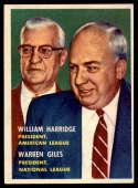 1957 Topps #100 Will Harridge/Warren Giles (League Presidents) EX Excellent