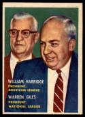 1957 Topps #100 Will Harridge/Warren Giles (League Presidents) NRMT o/c