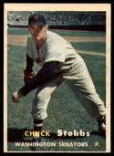 1957 Topps #101 Chuck Stobbs NRMT o/c