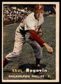 1957 Topps #129 Saul Rogovin EX Excellent