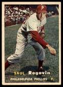 1957 Topps #129 Saul Rogovin VG Very Good