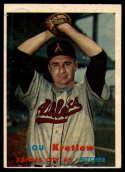 1957 Topps #139 Lou Kretlow EX Excellent