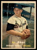1957 Topps #141 Al Aber VG/EX Very Good/Excellent