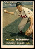 1957 Topps #151 Willy Miranda UER EX Excellent