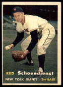 1957 Topps #154 Red Schoendienst EX Excellent