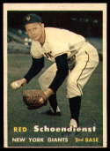 1957 Topps #154 Red Schoendienst VG/EX Very Good/Excellent