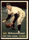 1957 Topps #154 Red Schoendienst EX/NM