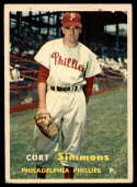 1957 Topps #158 Curt Simmons VG/EX Very Good/Excellent