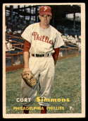 1957 Topps #158 Curt Simmons EX Excellent
