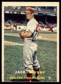 1957 Topps #162 Jack Meyer NRMT o/c