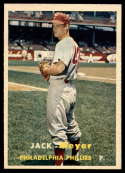 1957 Topps #162 Jack Meyer NM Near Mint