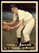 1957 Topps #164 Tommy Carroll EX Excellent