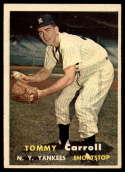 1957 Topps #164 Tommy Carroll EX/NM