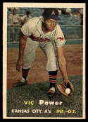 1957 Topps #167 Vic Power UER EX/NM