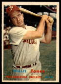 1957 Topps #174 Willie Jones NM Near Mint