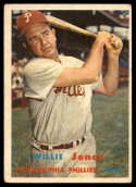 1957 Topps #174 Willie Jones EX Excellent
