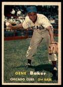 1957 Topps #176 Gene Baker ERR EX Excellent