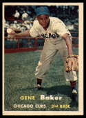 1957 Topps #176 Gene Baker ERR VG/EX Very Good/Excellent