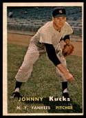 1957 Topps #185 Johnny Kucks NRMT o/c